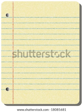 Illustration of a vintage grunge notepad with lots of small stains.