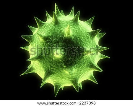 illustration of a virus - stock photo