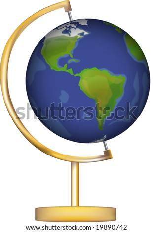 illustration of a world globe on a stand