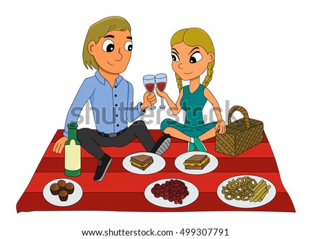 http://thumb7.shutterstock.com/display_pic_with_logo/232735/499307791/stock-photo-illustration-of-a-young-man-and-woman-in-love-having-a-picnic-sitting-and-drinking-red-wine-499307791.jpg
