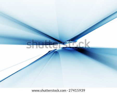 Illustration of abstract blue horizon stretching off to infinity - stock photo