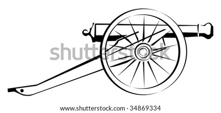 illustration of abstract cannon - stock photo