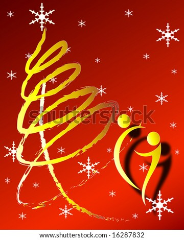 illustration of abstract christmas concept