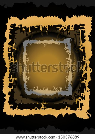 Illustration of abstract frame - stock photo