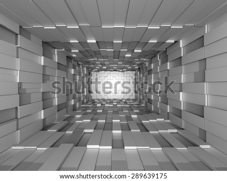 Illustration of abstract mosaic three-dimensional grey background  - stock photo