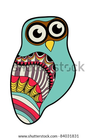 Illustration of abstract owl