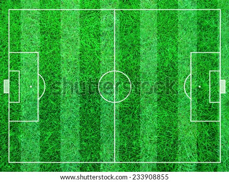 Illustration of an abstract soccer field of green grass.