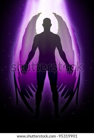 Illustration of an angel figure - stock photo