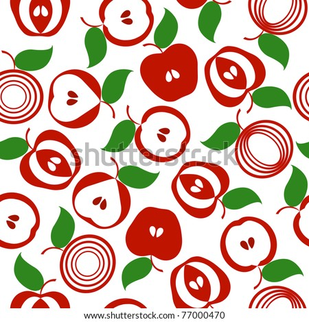 illustration of an apple seamless background - stock photo