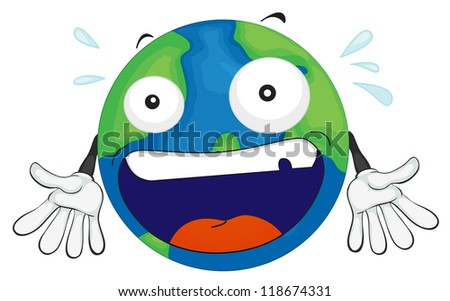 illustration of an earth planet on a white background