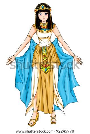 Illustration of an Egyptian princess - stock photo