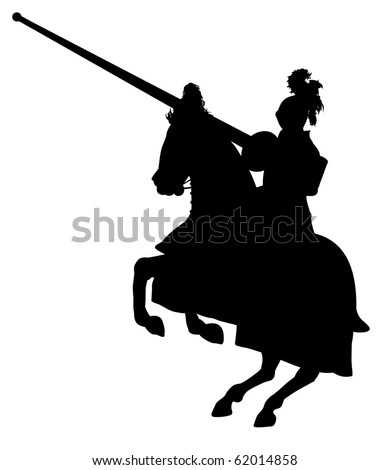 Illustration of an isolated Knight on horseback