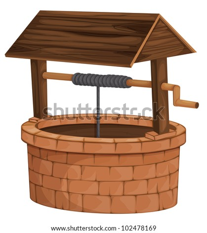 Illustration of an isolated well - EPS VECTOR format also available in my portfolio. - stock photo