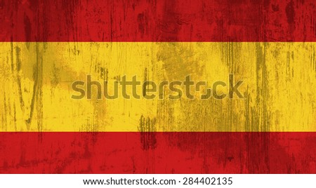 Illustration of an old and dirty Spain flag - stock photo