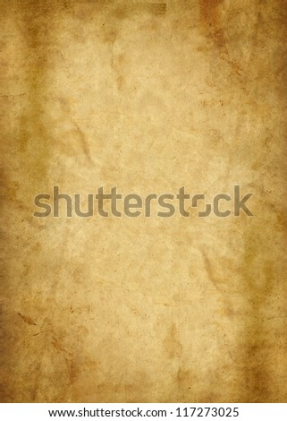 illustration of an old brown parchment paper - stock photo