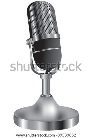 Illustration of an old microphone