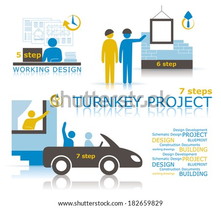Illustration of architectural and construction company (part 2) - stock photo
