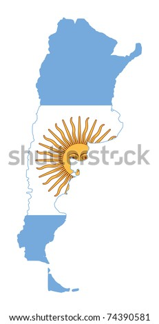 Vector Map Flag Argentina Stock Vector Shutterstock - Argentina map of country