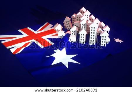 Illustration of australian real-estate development  - stock photo