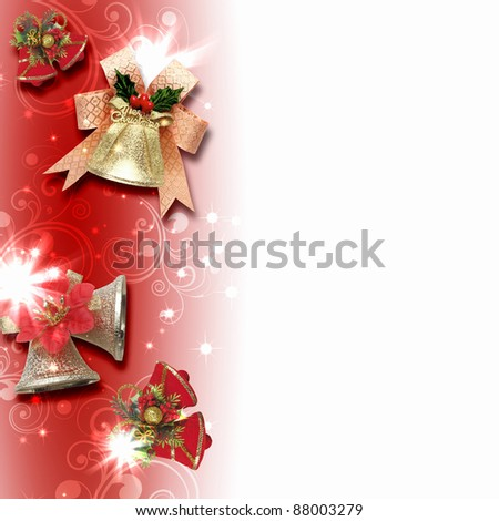 Illustration of background with traditional Christmas decoration ornament