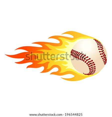 Illustration of ball in fire for your designs. - stock photo