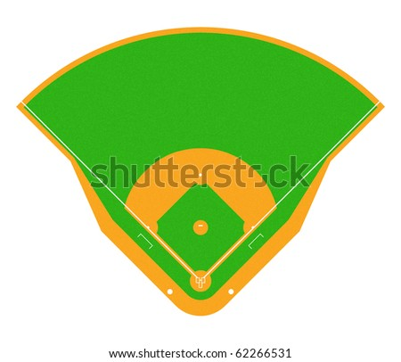 Illustration of Baseball field. - stock photo