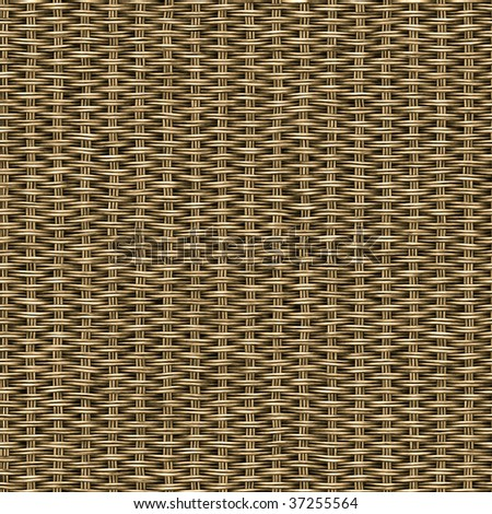 Illustration of basketwork. A seamlessly tiling texture. - stock photo