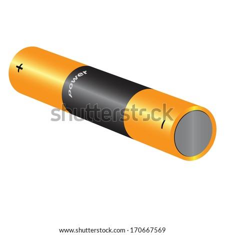 illustration of battery isolated over white background raster - stock photo