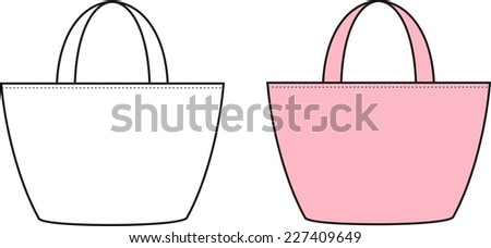 Illustration of beach bag. Raster version
