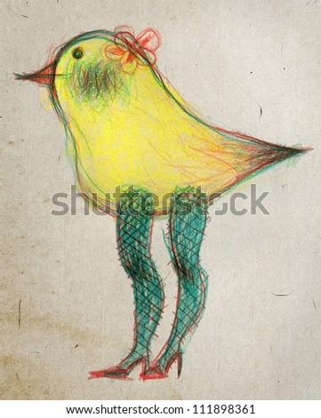 illustration of bird - stock photo