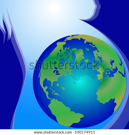 Illustration of Birth Of The Earth - stock photo