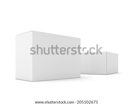Illustration of Blank boxes isolated on white background - stock photo