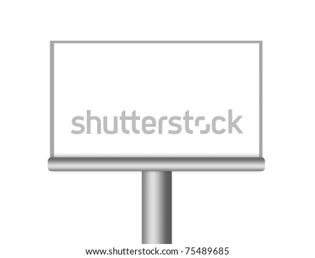 Illustration of blank isolated billboard