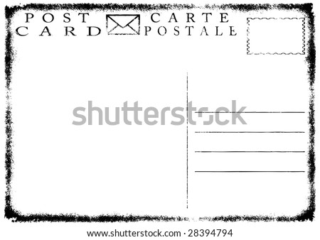 illustration of blank old grunge postcard See vector variant in my portfolio. - stock photo