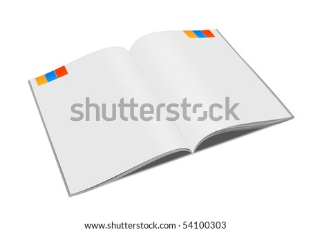 Illustration of  book on white background