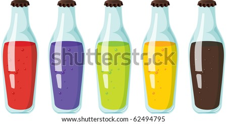 illustration of bottles on a white background