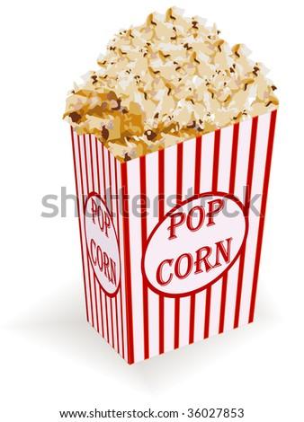 Illustration of box of popcorn - stock photo