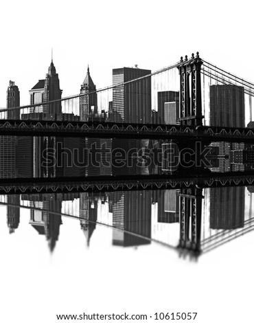 illustration of brooklyn bridge, new york, usa - stock photo