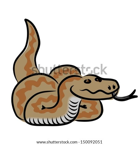 illustration of brown snake
