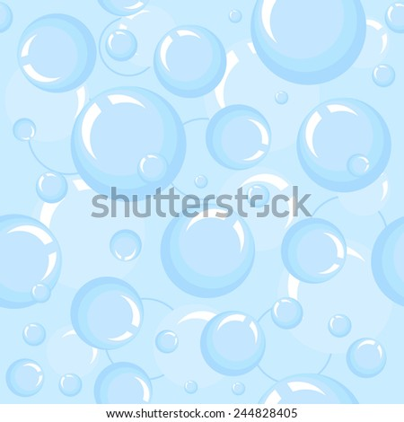 Illustration of bubbles. Abstract pattern. Seamless background - stock photo