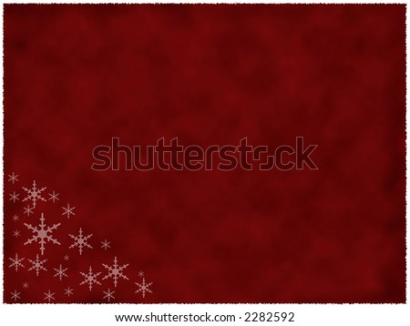 Illustration of burned red paper with snowflakes