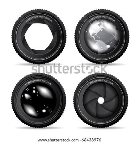 illustration of camera lens - stock photo