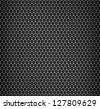 Illustration of chrome metal grid with rounded honeycombs - stock photo