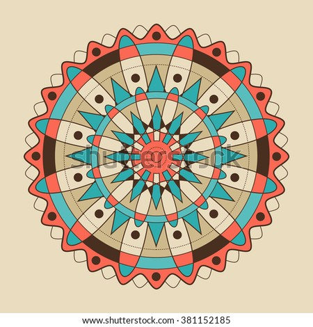 Illustration of circle abstract decorative element.