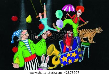 Illustration of Circus - stock photo