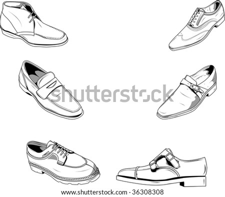 Illustration of classic men shoes, good for fashion and other type of designs. - stock photo