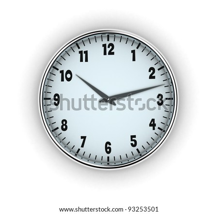 Illustration of clock with arrows on a white background