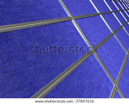 Illustration of close up of a solar panel array - stock photo