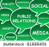 Illustration of clouds about Public Relations - stock photo