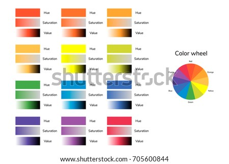 Illustration Of Color Circle Hue Saturation Value Infographics Red Blue